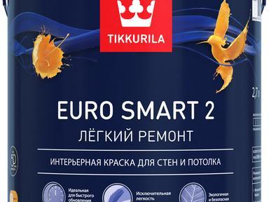 Краска Tikkurila латексная ЕВРО-2 2,7л