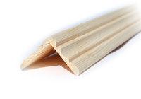 Уголок деревянный  40х40х3000 мм фигурный
