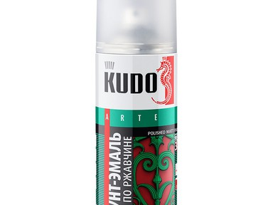 Грунт-эмаль по ржавчине KUDO аэрозол. серая 520мл RAL7042