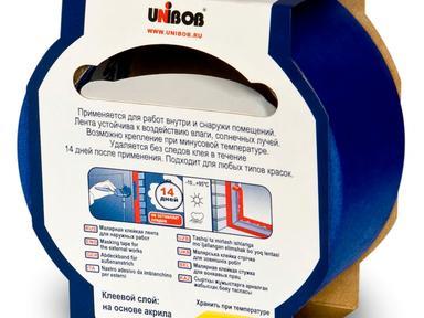 Скотч малярный UNIBOB д/наружних работ 50х25м синий
