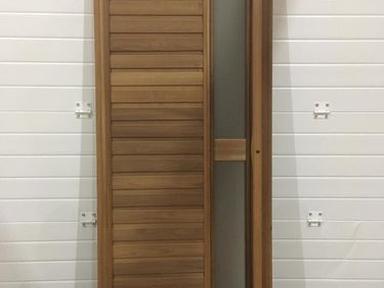 Дверь банная люкс термолипа стекло боковое 180х70 терморучка