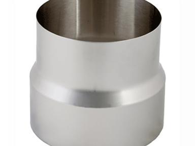 Дымоход переходник  ф115х120 мм 0,8мм н/ж МП