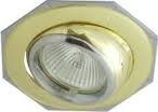 Светильник точ. Lezard MR16 LD-16018Т-0706 золото/хром