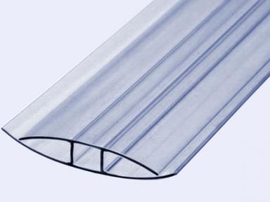 Профиль прозрачный НР 10 мм 6 м Polygal (профиль неразъемный)