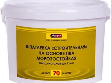 Шпатлевка готовая на ПВА Аквест-70 3 кг