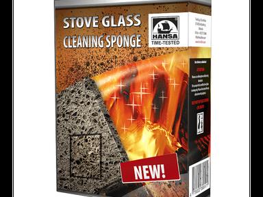 Губка для чистки стекла печей и каминов HANSA