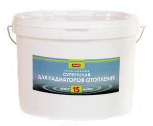 Краска для радиаторов по металлу Аквест-15 1,2кг белая