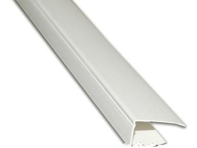 Профиль ПВХ Концевой элемент  8-10 мм,  3 м белый