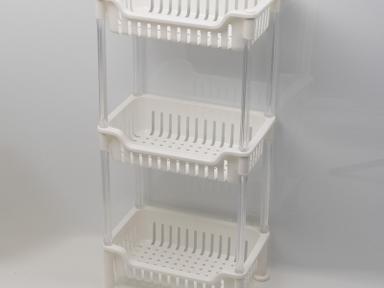 Этажерка прямоугольная трехэтажная пластик GR-8351 Grampus