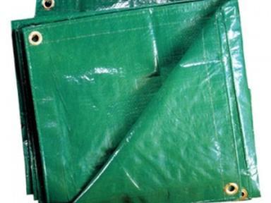 Тент Тарпаулин полиэтилен 120г/м2 6х10м зеленый