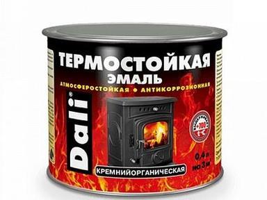 Эмаль термостойкая DALI серебро 0,4л