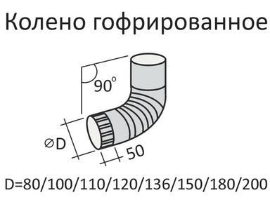 Колено верх. ф100 цвет (коричневое)