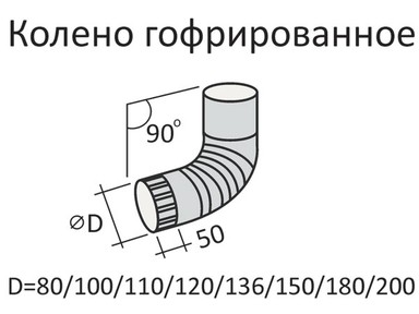 Колено верх. ф100 цвет (вишня)