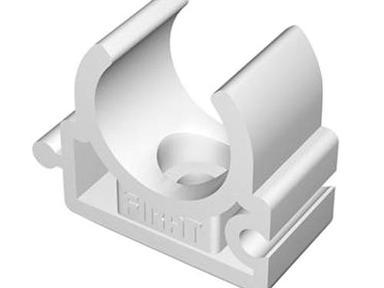 П-Крепление одинарное ф40 настенное белое (5шт)