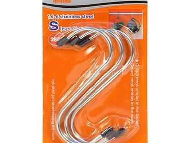 Крючок S-образный (4шт) ф3.0 мм дуга 20х20 длина 70мм