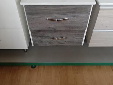 Тумба + раковина Норд 65 см подвесная комбинированная 2 ящика
