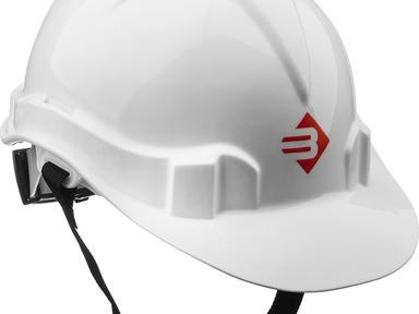 Каска защитная строительная белая