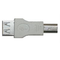 Переходник-USB, А гнездо - В штекер,  0678/PU