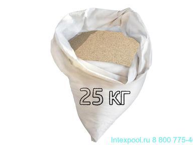 Песок кварцевый для фильтров 25 кг фракция 0,5-1,0 мм