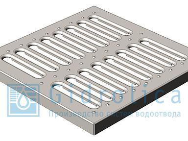 Решётка водоприёмная 28,5.28,5 штампованная стальная оцинкованная