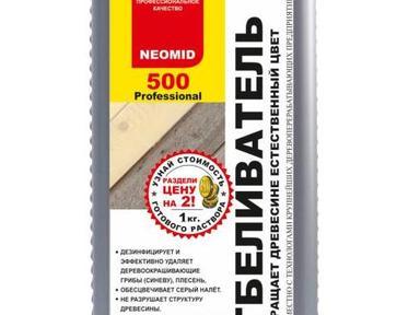 Отбеливатель для древесины NEOMID 500 1кг концентрат 1:1