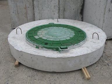 Крышка бетонная с люком ППЛ10-1, ф1000 мм вес-240 кг
