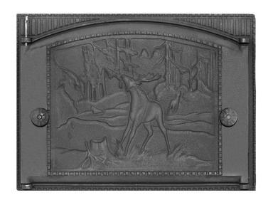 Дверка каминная ДК-2Б  375х300 крашеная Рубцовск