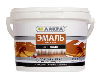 Эмаль акрил.д/пола золотисто-коричневый 0,9 кг Лакра