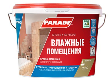 Краска PARADE W100 латекс белая матовая 5 л
