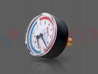 """Термоманометр 1/2"""" осевое подкл, ITAP"""