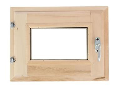 Окно для бани 40х50см липа стеклопакет