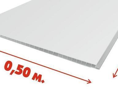 ПВХ панель  3000х500х8 Белый глянец