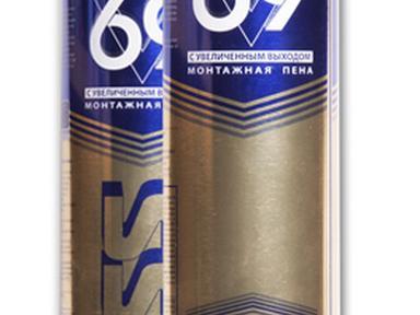 Пена монтажная KRASS Проф 69 с увеличенным выходом 0,89л
