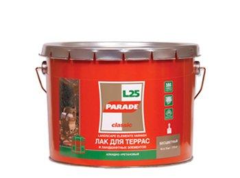 Лак алкидный PARADE для террас и веранды п/матовый 2,5 л L 25