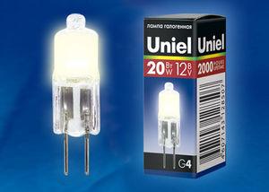 Лампа галоген.JC 12V/20W/G4 CL