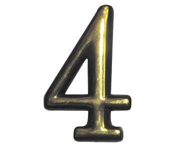 Цифра дверная маленькая  №4  пласт. (1/23)