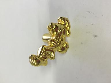 Ручка-кнопка 2357 Утка (золото)