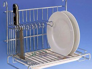 Полка-сушилка для тарелок и ножей 415*270*345 мм CWJ230