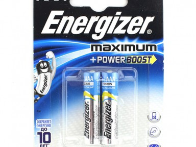 Батарейка щелочная*12 ENR Maximum LR03 AAA 2шт/бл