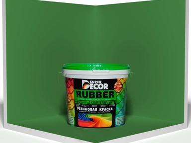 Краска резиновая №1 ондулин зелёный 6кг