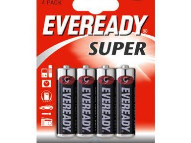 Батарейка солевая*12 EVR SUPER R6 AA 4шт/бл