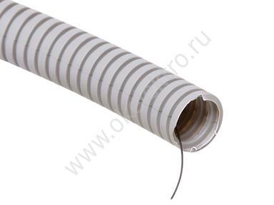 Труба гофрированная с протяжкой ПВХ ф25, 50м