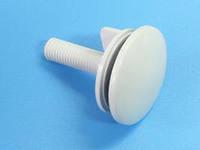 Заглушка на умывальник пластик белая