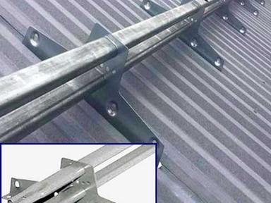 Снегозадержатель усиленный 3м трубчатый  оцинк. (к-т)