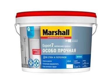 Краска MARSHALL Export 7 д/стен и потолка 9л моющая BW