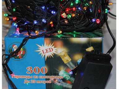 Гирлянда светодиод для улицы 2,4*2м,300ламп(SL300-2.4-2М)