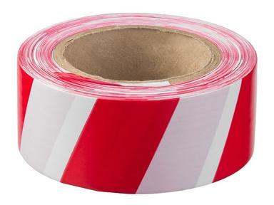 Лента сигнальная 50ммх150 м бело-красная