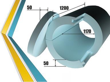 Утеплитель  для колодца (комплект 8+2) 50х1170х1200мм, крышка 50х1170мм