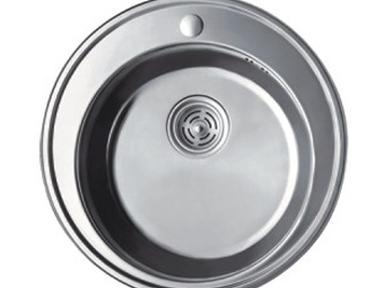 Мойка F510 круглая глянцевая ф510х180мм