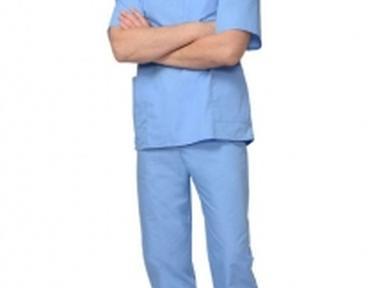 Костюм хирурга унив.блуза,брюки голубой